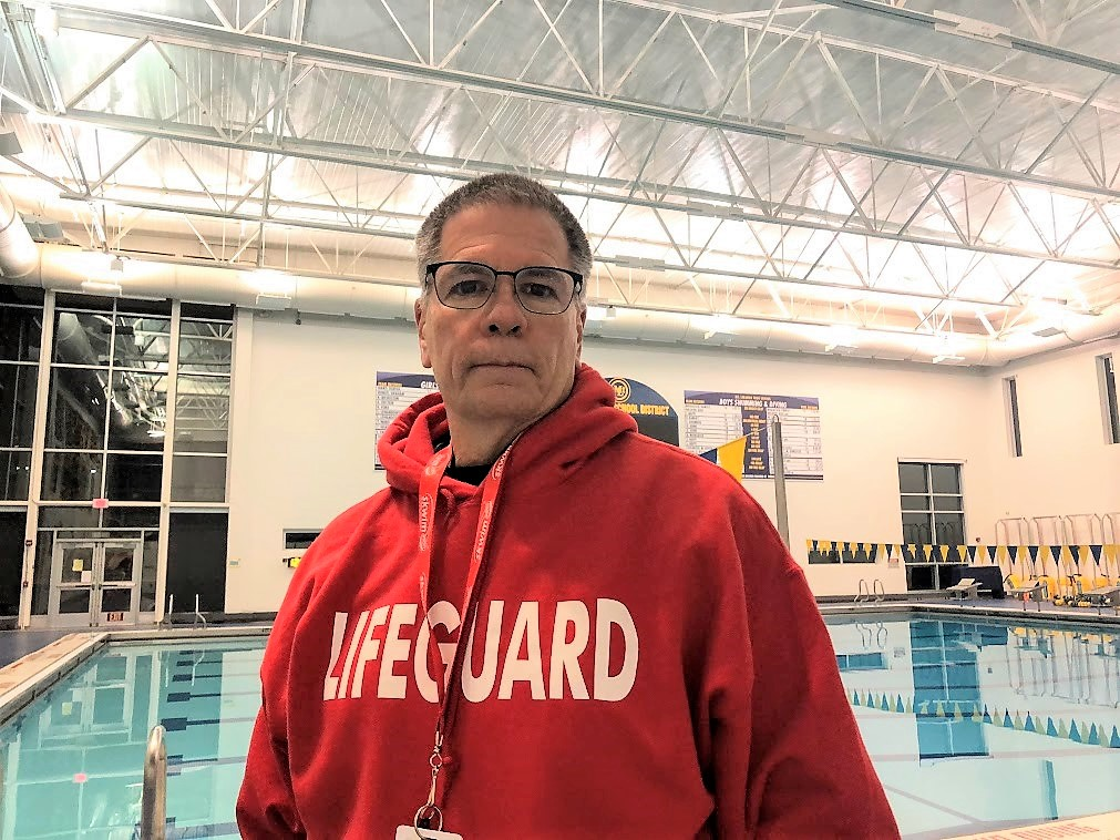 Mark Rauterkus, lifeguard and organizer at the Mt. Lebanon swim pool.