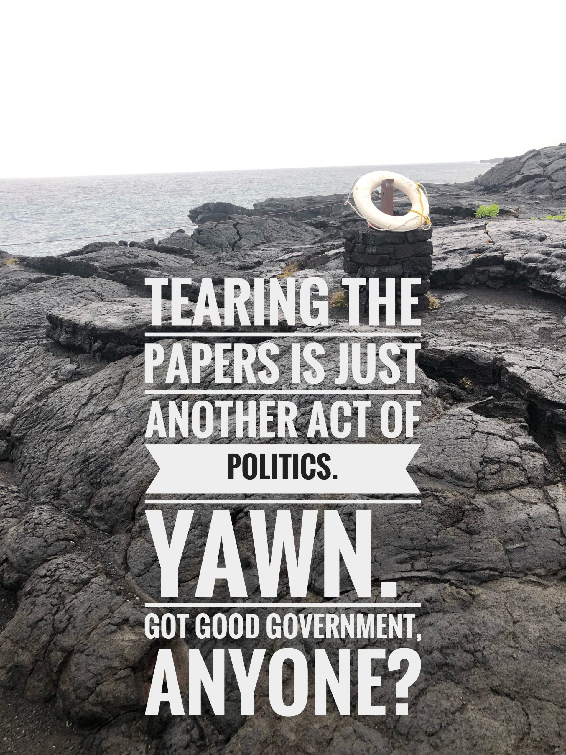 Tearing the paper to the POTUS speech is politicians being political.