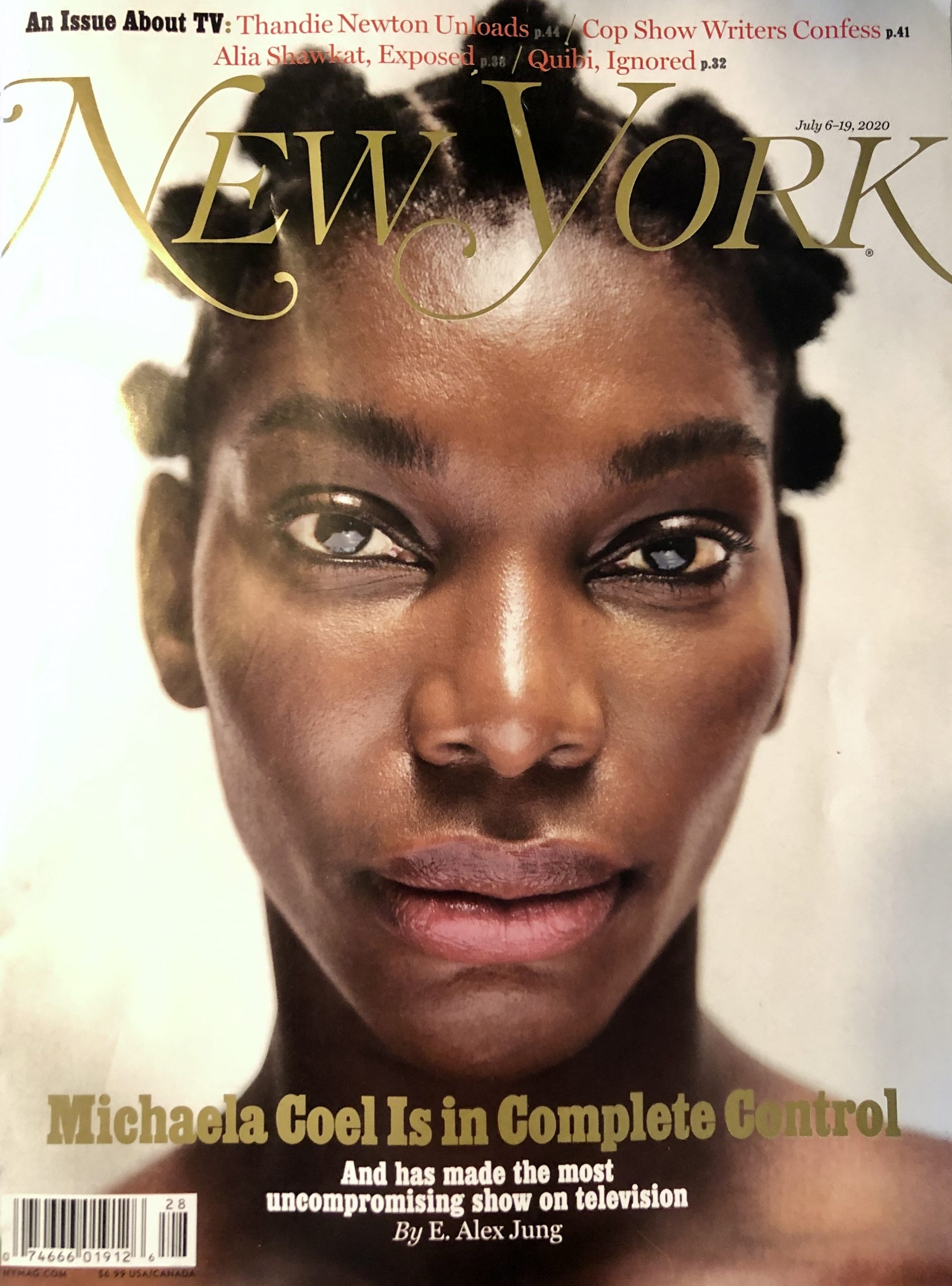Cover of New York magazine, July 2020