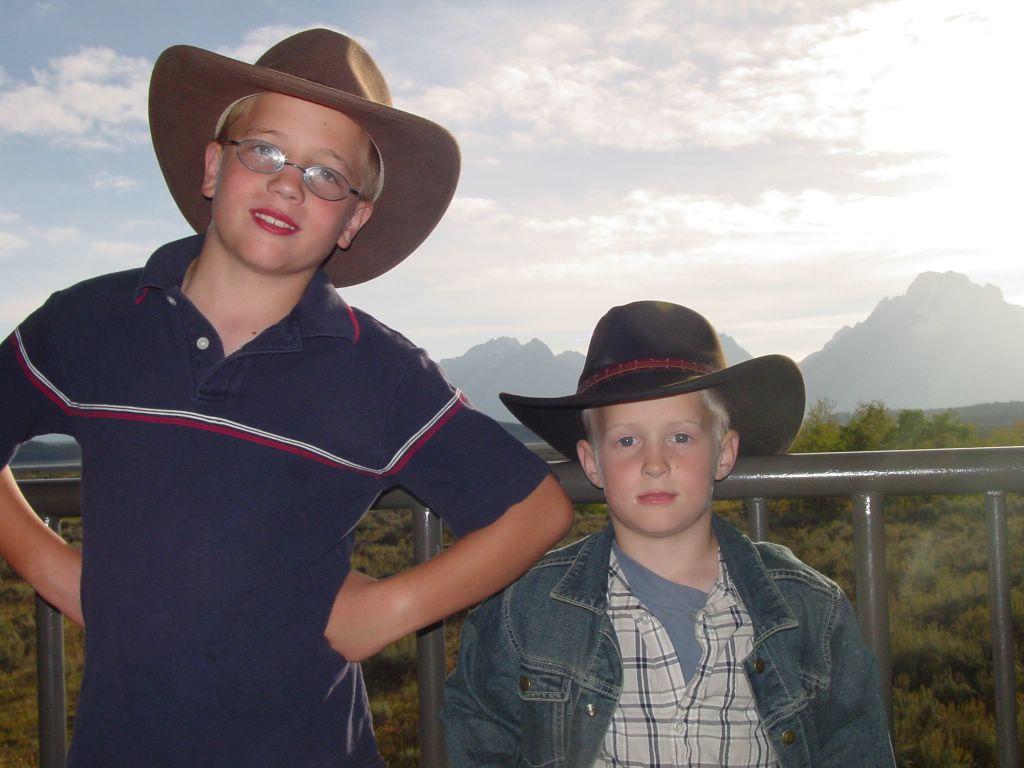 Erik and Grant in Wyoming