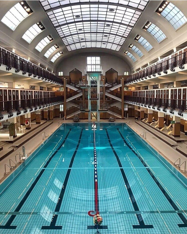 Indoor pool with 10-meter platform