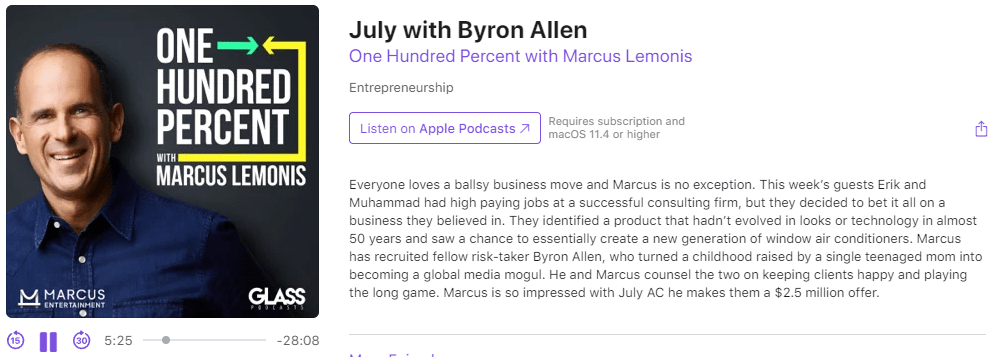 July.ac with Eric on podcast